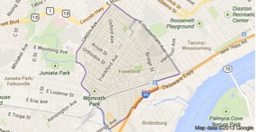 Frankford map